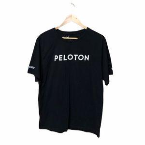 Peloton Black T-Shirt Athletic Basic Wear